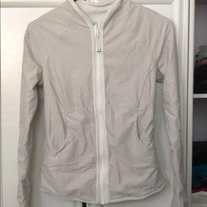 White reversible lululemon jacket